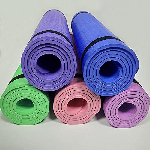 Yumhouse Esterilla de Yoga Antideslizante,Placa de Estera de Yoga Soporte Fitness Antideslizante Almohadilla de Ejercicio-Green_610 * 1830 * 8 mm,Esterilla de Yoga ecológica
