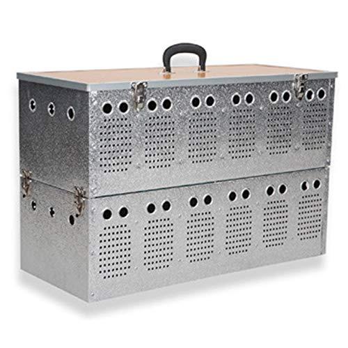 Polmark Cesta (transportín) Doble de Aluminio de 6x2 Compartimentos, para Palomas
