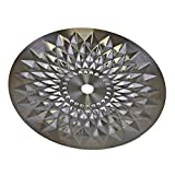 mysale24.de Plato de carbón para cachimba de acero inoxidable de alta calidad con patrón, para cenizas universal, diámetro exterior: 20,8 cm, accesorios para pipa de agua