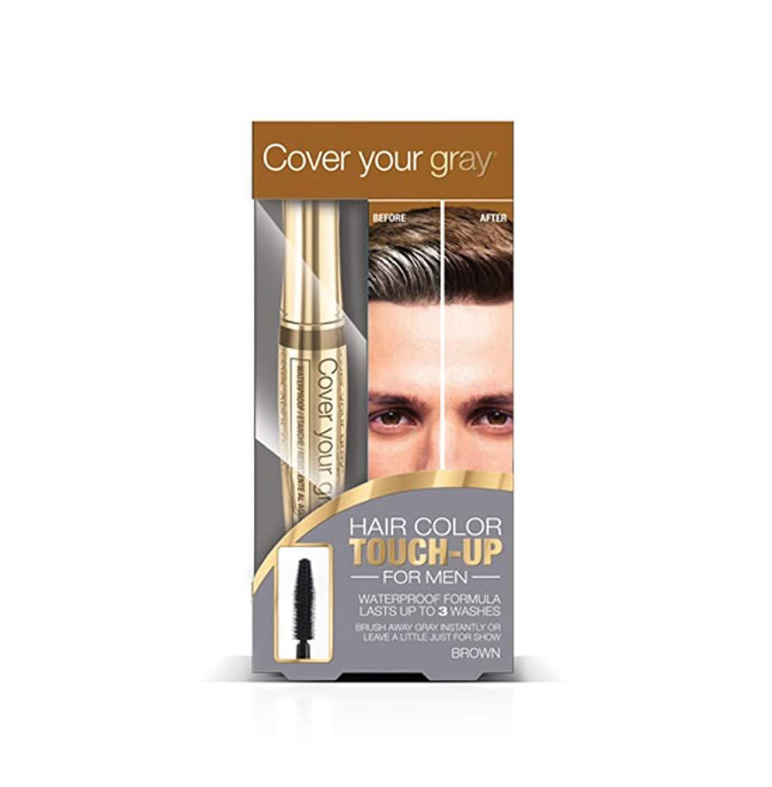探す匹敵します電極Cover Your Gray メンズ防水ブラシイン - ミディアムブラウン(3パック)