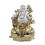 ZHAOJ Estatua De Buda Riendo, Estatua De Resina De Dios para Manualidades De Feng Shui, Suministros Religiosos para Porche, Sala De Estar, Escritorio, Oficina,38×18×28cm