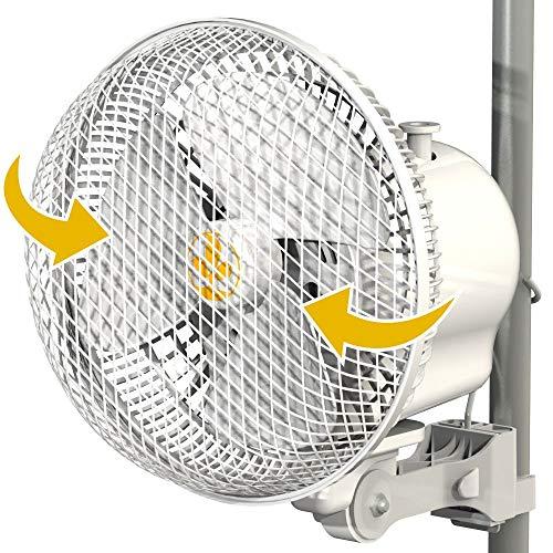 Secret Jardin Monkey Fan Clip on Grow Tent Pole Mounted Space Saving 16w 20w 30w (20w -Oscillating)