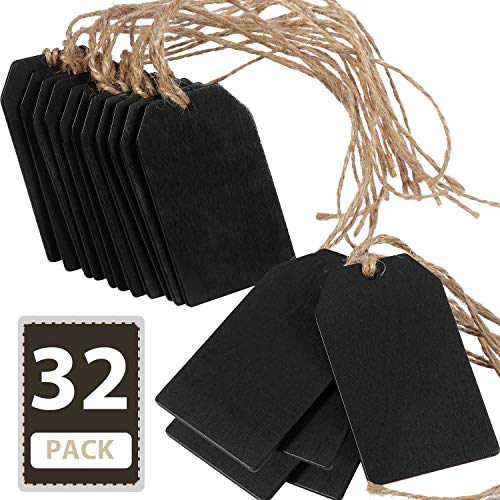 Chalkboard Tags Hanging Wooden M...