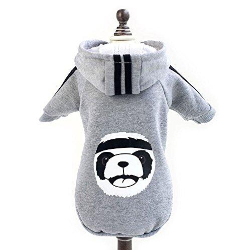 Pegasus Jacke mit Kapuze für Hund/Welpe/Katze, Fleece, Motiv: Panda, warme Winterbekleidung
