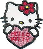 Hello Kitty Herz Katze Kinder Rucksack Tasche Aufbügler Aufnäher Patch