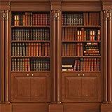 Yeele Bookcase Backdrop 5x5ft /1.5 X 1.5M Wooden Bookshelf Books Library Study Room Nostal...