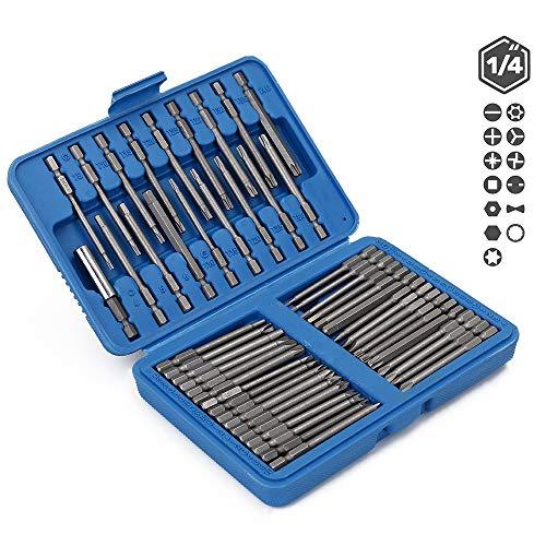 ELECTRONIC-MEI 50st Bits Set Chroom Vanadium Staal Extra Lange Reach Bit Set Schroevendraaier Bits Kit voor Boor Machine Accessoires