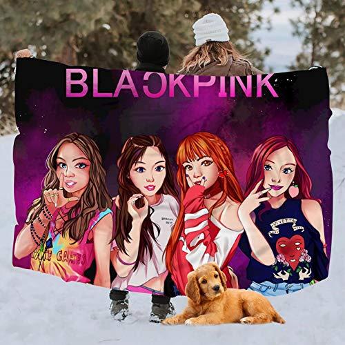 KOUI Blackpink Li-sa - Manta para el hogar, para sofá, cama, manta suave y cálida, 100 x 150 cm