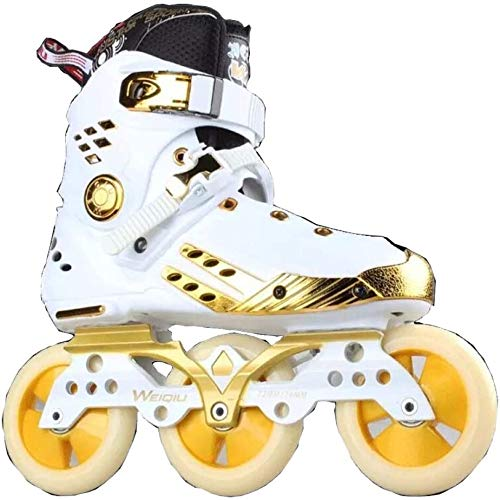 GUIYTQ5R Patines para niños Carreras 3 Ruedas Grandes Patines en línea, 100% Original PowerSlide Trinity Frame en línea Patines Street Racing Skate Roller Patinaje Libre Patines