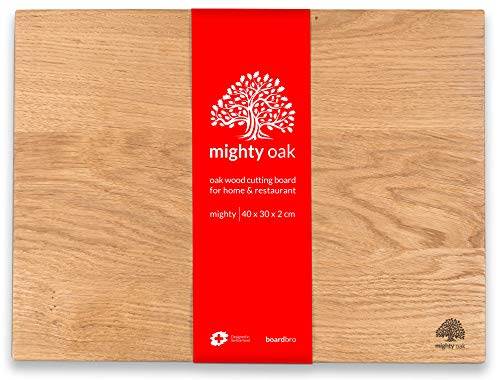 Robusto Tagliere in Rovere | 40 x 30 x 2 cm | Grande Tagliere in Legno per la Cucina