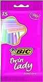 Bic Twin Lady 15 Einweg-Rasierer mit Doppelklingen