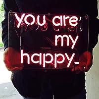 ネオンサイン、『You are my happy』NEON SIGN 、ディスプレイ サインボード、ギフト、 省エネ、バー、カフェ、喫茶店、広告用看板、クラブ及び娯楽場所等 インテリア…