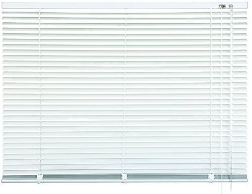 mydeco® 110 x 130 cm Aluminium Jalousie Weiß; inkl. Bedienstab, Deckenträger + Befestigungsmaterial Innenjalousie Sonnen- und Sichtschutz; fein regulierbar