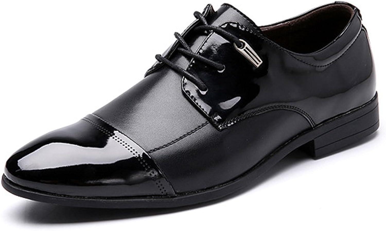 Elegante Herren Slipper mit Schnalle Schnalle Herren Business Schuhe Fluent Splice Flatness PU Leder Schnürschuhe Atmungsaktiv Gefüttert Oxfords Mode Mokassin Hausschuhe (Farbe   Schwarz, Größe   44 EU)  mehr Rabatt
