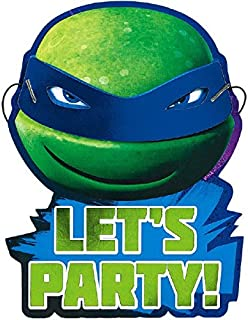 Teenage Mutant Ninja Turtles Invitations | Pack of 8 | Party Supply