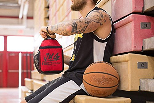 Isolator Fitness ISOJUG Insulated One Gallon Water Jug Holder with ISOBRICK and Shoulder Strap -MADE IN USA (Blackout)