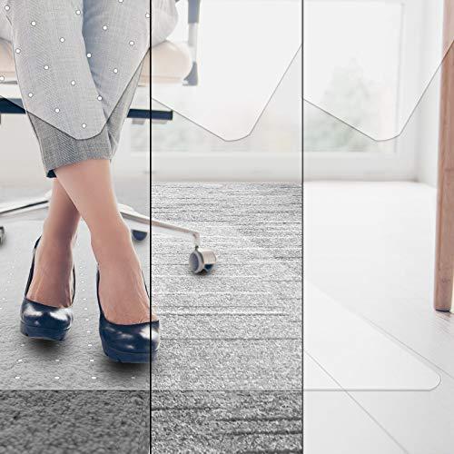 Bodenschutzmatte Universell - transparent, ergonomisch, kratzfest - als Unterlage Bürostuhl, Schutzmatte Boden, Unterlegmatte Fitnessgerät (Variante: für Kurzflor-Teppich, 75x120 cm)