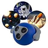 Projectables 3-Image Space LED Plug-In Night Light, Cycles through 3 Images, 36713, Astronaut / Solar System / Rocket Launch, Image Projects Onto Wall or Ceiling, Automatic On/Off Light-Sensing