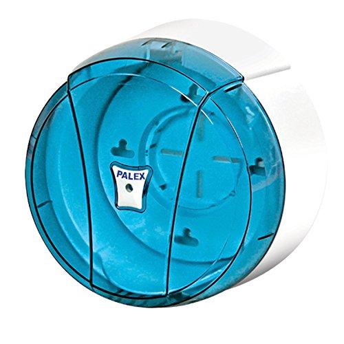 Palex Mini o Jumbo - Dispensador de rollo de papel higiénico, color azul transparente, Blue Transparent, mini
