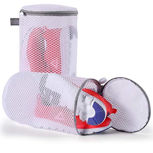 Kimmama Shoes Wash Bags Sneaker Mesh Washing Cleaning Bag 125gsm Net Fabric Durable and Reusable Wash BagTravel Organization Bag 7×15