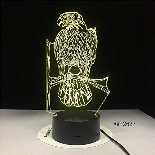 Polnischer Adler Falke Polnisches Wappen Polska 3D Optische Täuschung USB-Licht Wohnkultur LED...