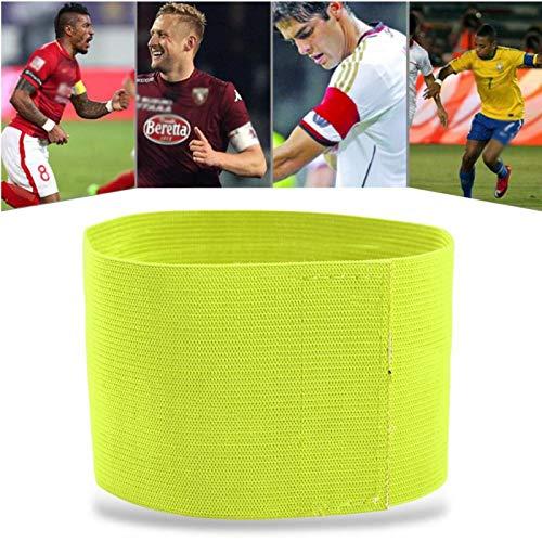 Gedourain Bandas de Jugador Ajustables Brazaletes de fútbol de tamaño Ajustable para Partidos de Rugby para Juegos Deportivos(Verde)