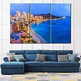 TUMOVO 3-teiliges großes Hawaii-Wandkunst-Poster auf