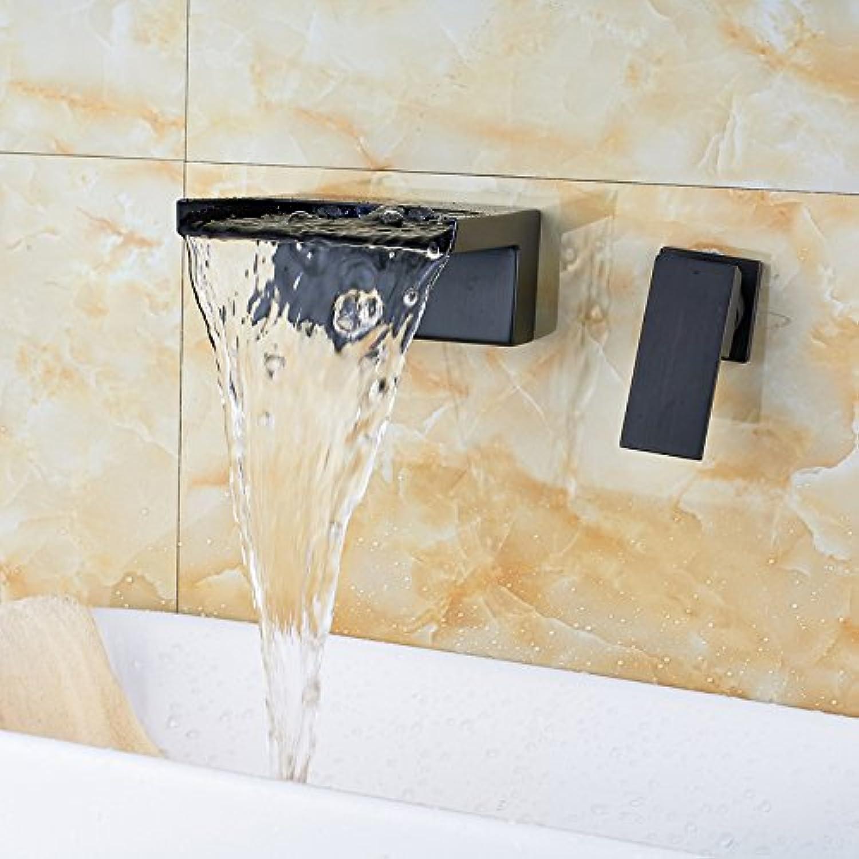 Maifeini Moderne Zwei Lcher In Die Wand Eines Wasserfalls Messing Waschtischmischer l Badarmaturen Kupfer