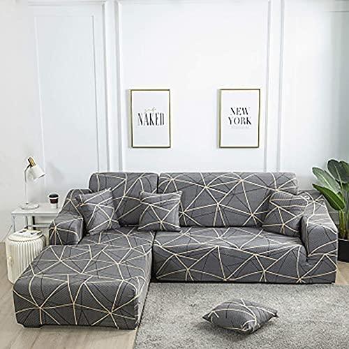 eewopjkj Funda elástica para sofá de 1 ~ 4 fundas de sofá de color gris 90 140 cm