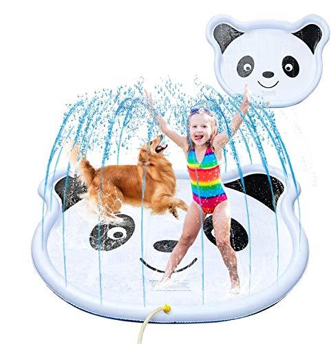 """子供の幼児のためのスプラッシュスプリンクラーパッド、68"""" 屋外ウォーターマットのおもちゃ赤ちゃん幼児ワタリプールファン裏庭の噴水は、プレイマット"""