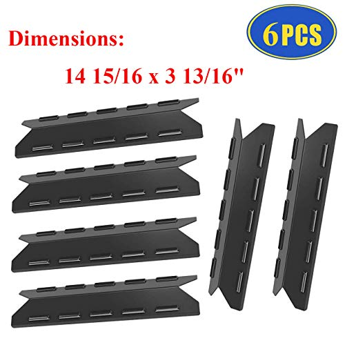Grill Replacement Parts for Kenmore 146.47223610, 146.16132110, 146.16142210, 146.23673310, Porcelain Steel Heat Tent Plate Shields Replacement Parts for Kenmore 6 Burner Gas Grill Models. Grill Heat Plates