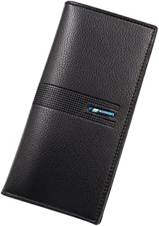 BeniNew men's long wallet lychee vertical wallet-black