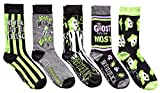 Hyp Beetlejuice The Ghost With The Most Men's Crew Socks 5 Pair Pack