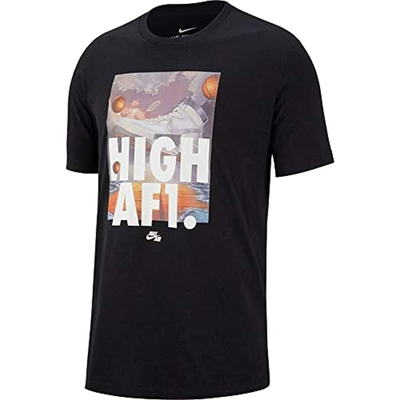 Nike Sportswear Mens High AF1 T-Shirt Black AR5042-010
