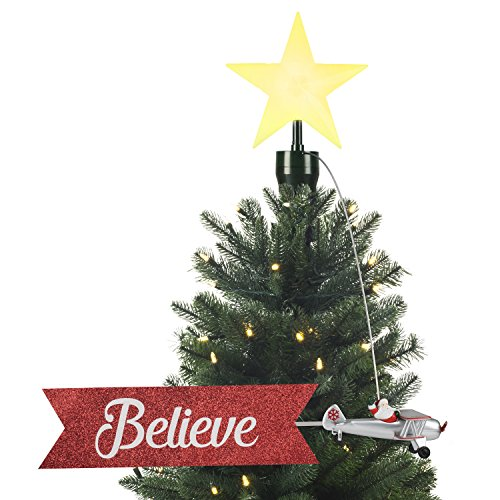 MR CHRISTMAS INC Santa's Biplane tree topper, One Size
