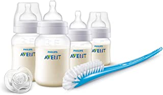 Philips Avent Infant Starter Anti-Colic Bottle Gift Set for 0m+ & 1m+ Babies with Newborn Flow Teat and Slow Flow Teat, BPA Free, 125ml & 260ml, SCD806/00