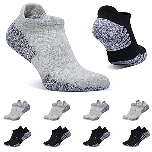 BUTTBILL Calcetines Tobilleros Mujer Negro Gris Claro 35-38 Calcetines Cortos Deportivos Hombre Algodon Transpirables 8 Pares