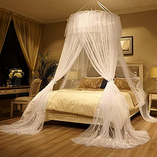 JHNEA Mosquito Net Mosquitera Universal con Diseño de Cúpula y Mosquitera de Fácil, Protección Repelente contra Insectos, Malla antinsectos con rápida y fácil instalación,B