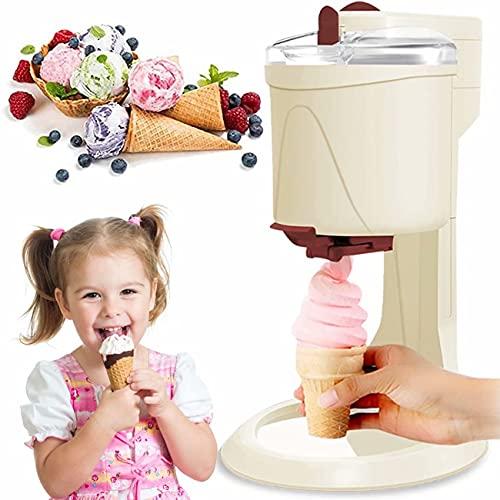 Heladera con compresor, máquina de helado para el hogar, máquina de helados de 1 L, lámina de aluminio de calidad alimentaria, máquina de granizados de hielo, batidora portátil para casa