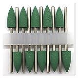 SHUHANG bits de Taladro de uñas 10 unids Conjunto de Silicona Nail Brocas bits Manicure Pedicure Uñas Pulido Burr Accesorio Salón Manicura