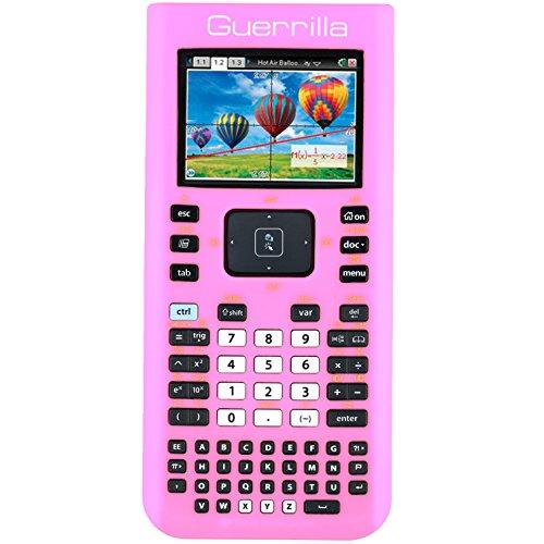 Guerrilla Silicone Case for Texas Instruments TI Nspire CX/CX CAS Graphing Calculator, Pink Photo #4