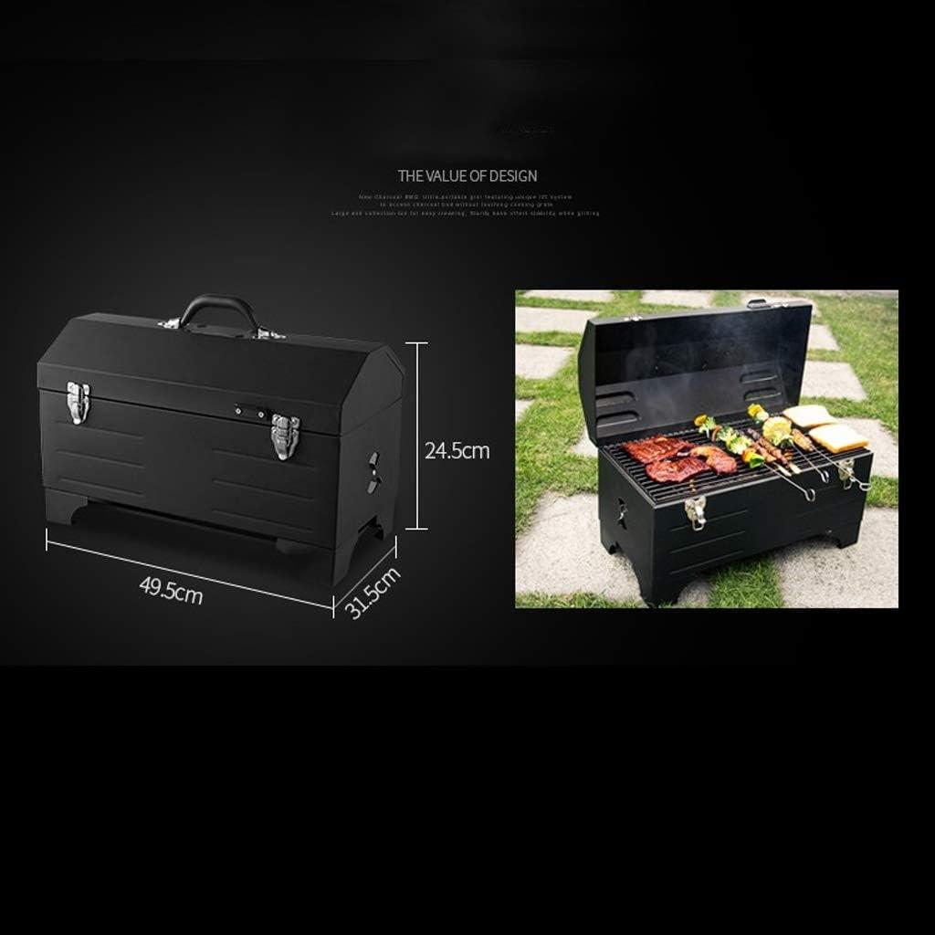 YF Portable Barbecue au Charbon Grill Voiture BBQ extérieur Grill Pique-Nique Outils for Barbecue Carbon Grill Petit Barbecue, Noir Outils de Barbecue (Color : Black) Black