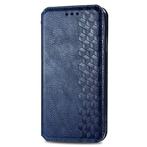 TANYO Custodia Adatto per Huawei P Smart 2021, Premium PU/TPU Pelle Case Cover, Chiusura Magnetica, [Carta Fessura] [Supporto Stand] Flip Wallet Case Cover. Blu