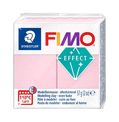 Staedtler - Fimo Effect - Pain Pte à Modeler 57 g Effet Pierre Précieuse Rose Quartz