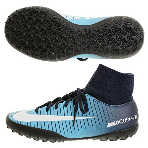 Nike Herren Mercurial X Victory VI DF TF JR 903604 4 Sneaker, Photo blau/schwarz/weiß, XL