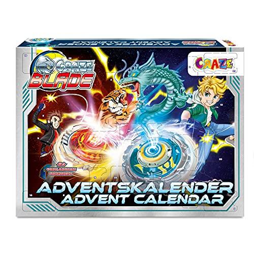 CRAZE Adventskalender BLADE Kampfkreisel Battle Arena Weihnachtskalender 2021 für Jungen Kampf Kreisel Kinder Spielzeug Kalender 34125
