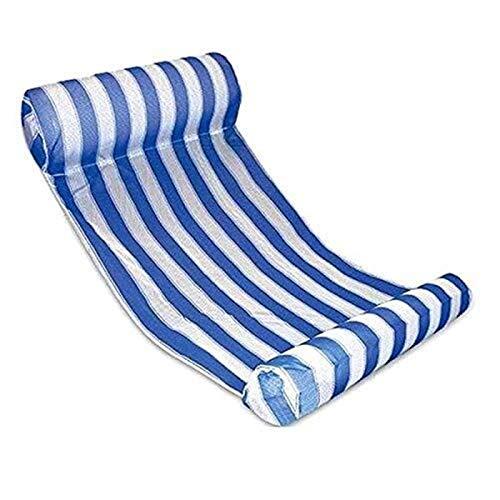 KK Zachary Pool Flotador De La Piscina, Hamaca Inflable Hamaca De Cama Reclinable Silla De Playa Silla A La Deriva Cojín De Aire Portátil for Adultos, 1 Bomba De Aire