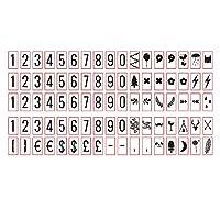 Chi-buy cinema lightbox letter card, expression emoji, DIY letter card for A4 A5 Cinematic light box letter symbol, 絵文字 シネマライトボックスレターカード DIYレターカード (A4番号カード)