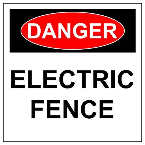 Señal de Cerca Eléctrica de Danger, de Aluminio de Alta Resistencia, Señal...