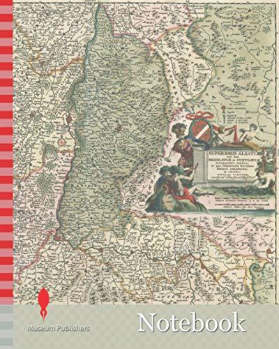 Notebook: Map, Superioris Alsatiae nec non Brisigaviae et Suntgaviae geographica tabula, Nicolaes Jansz Visscher (1618-1679), Copperplate print